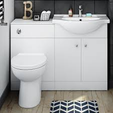 Combination Vanity Units For Bathrooms 55 Bathroom Wc Combination Unit Soft Closing Modern White Design