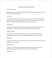 business plan outline template u2013 8 free word excel pdf format