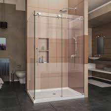 Glass Shower Cabin Partition Walls With Black Handle White Wall Corner Shower Doors Shower Doors The Home Depot