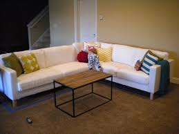 Karlstad Loveseat And Chaise Lounge Sunshine On The Inside Brand New Basement Seating