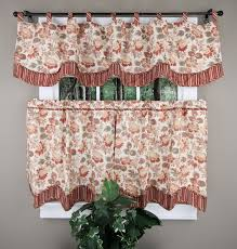 Insulated Kitchen Curtains by Alicia Eliminaire Shield Valance U0026 Tiers Discount Kitchen Cafe