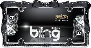 lexus glitter emblem amazon com cruiser accessories 18545 ribbon bling license plate