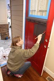 Paint For Exterior Doors A Front Door Makeover From Brown To Glidden Trim Door Paint