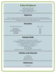 high student resume examples first job high student