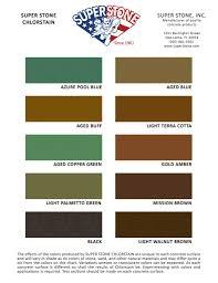 Stain Color Chart Concrete Coating Color Chart Color Charts Super Stone Inc