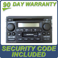 2001 honda accord radio ebay