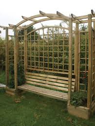 metal arbor with bench bench decoration