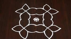 Gadapa Designs by 5 Chukkala Muggulu 5 Pulli Kolam Designs Bhommali