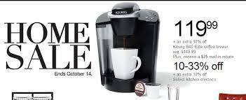 keurig coffee maker black friday keurig sale at kohl u0027s prices start at 70 99