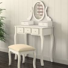 mirrored makeup vanity table makeup vanities you ll love wayfair ca