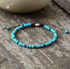 simple beaded bracelet images Boho bracelet mens beaded bracelet 4mm turquoise simple shamballa jpg