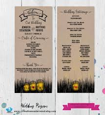 Mason Jar Wedding Programs 22 Best Diy Wedding Program Templates Images On Pinterest