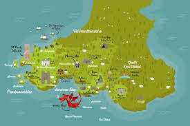 where is wales on the map this map shows wales landmarks as you ve