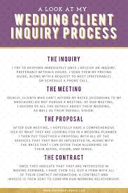 what does a wedding planner do a look at my wedding client inquiry process on aspiring planner