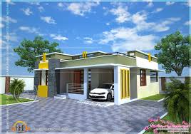Kerala Home Plan Single Floor House Plan Of A Small Modern Villa Kerala Home Design And Floor