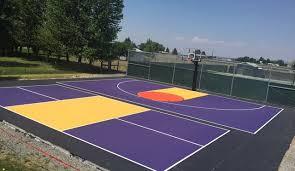 Backyard Sports Court by Backyard Sports Court Construction U0026 Surfacing Washington