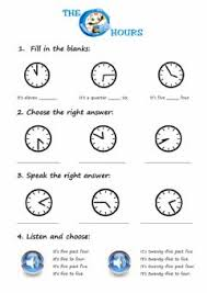 english exercises what time is it