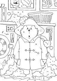 paddington clothes paddington washing his clothes with wash machine coloring