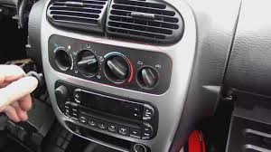 simple removal steps for 2004 2005 dodge neon stereo with wiring