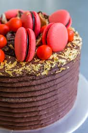 jaffa layer cake with macarons recipe macaron inspirations
