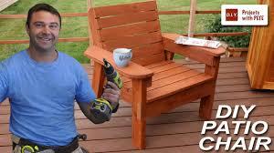 Diy Patio Furniture Plans How To Build A Patio Chair Diy Outdoor Chair Build Youtube