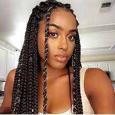 braided pin up hairstyle for black women pinterest baddiebecky21 bex box braids dark haired