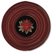 poinsettia round braided rug sturbridge yankee workshop
