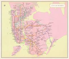 Mta Map Subway City Of Women U0027 Turns The Subway Map Into An Homage To The City U0027s