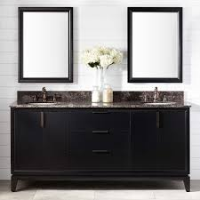 Talyn Mahogany Double Vanity For Undermount Sinks Black - Black bathroom cabinet with sink