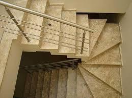 Muito Instalação de Escada de Mármore Travertino Brás - Escada de  #IQ88