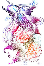 carp peony tattoo sketch love this tattoos pinterest peonies