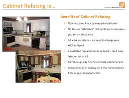 kitchen cabinet refacing at home depot home depot sales presentation