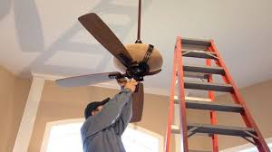 hooking up a ceiling fan how to install a ceiling fan monkeysee videos
