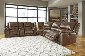 Sofa Sectional With Recliner by Contemporary Leather Match Reclining Power Sectional With Wedge By