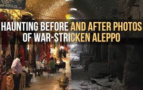 syria before and after video showing haunting before and after photos of war torn syria