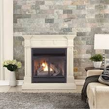 Btu Gas Fireplace - duluth forge dual fuel vent free gas fireplace 32 000 btu