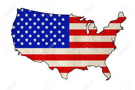 United States Of Anerica Map by Flag Of United States Of America In Usa Map With Old Paper Texture