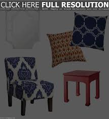 chair glamorous blue and white accent chair living room chairs