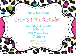 party invitation cards birthday party invite template