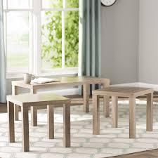 wayfair coffee table sets beachcrest home sunbury 3 piece coffee table set reviews wayfair for