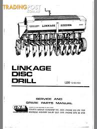 connor shea disc seeder manual and parts list for sale in canberra
