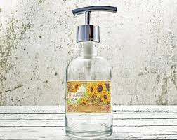 Country Bathroom Accessories by Hand Soap Dispensers Farmhouse Bathroom Decor Glass Soap