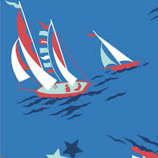 nautical fabric sailboat fabric fabric by the yard