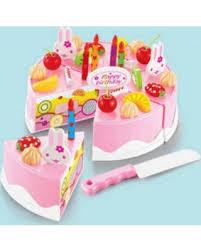 playpink cuisine savings on 37pcs plastic birthday cake set play food set for pretend