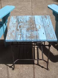 Turquoise Patio Chairs Decorated Chaos Patio Table Makeover Using Decoart Outdoor Paint