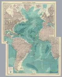 Ocean Depth Map Composite Atlantic Ocean David Rumsey Historical Map Collection