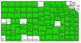 Map Of Counties In Kansas Ellis Trego Counties Cited In Kansas Ag U0027s Report On Colorado Pot