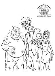Halloween Kids Coloring Pages by Coloring Pages Kids Halloween Zombie Coloring Page Zombie