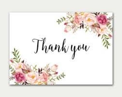 thank you cards chic thank you card etsy