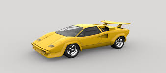 yellow lamborghini countach lamborghini countach 3d model cgtrader